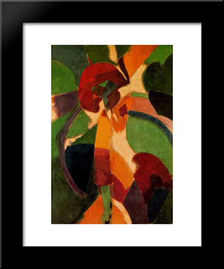 Woman With Umbrella. The Parisian: Custom Black Wood Framed Art Print by Robert Delaunay