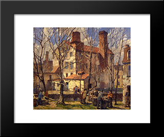A Day In March: Modern Black Framed Art Print by Robert Spencer