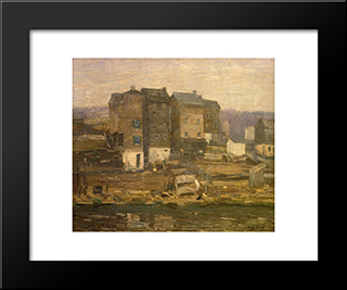 A Gray Day: Modern Black Framed Art Print by Robert Spencer