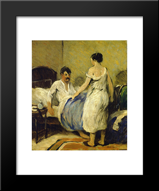 Alarm Clock: Modern Black Framed Art Print by Robert Spencer