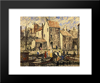 Boating Party: Modern Black Framed Art Print by Robert Spencer