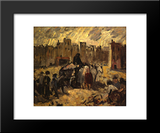 Collectors: Modern Black Framed Art Print by Robert Spencer