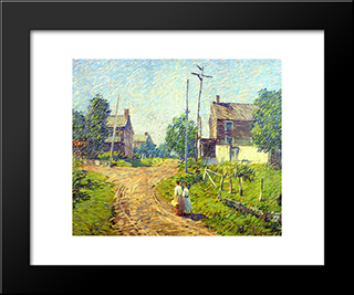 Crossroad: Modern Black Framed Art Print by Robert Spencer