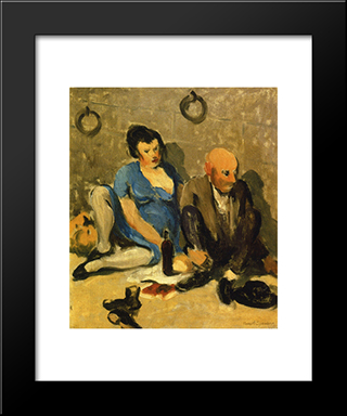 Dejeuner: Modern Black Framed Art Print by Robert Spencer