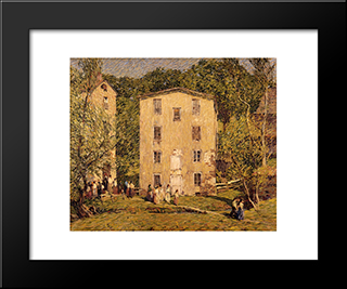 Five O'Clock, June: Modern Black Framed Art Print by Robert Spencer