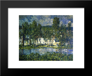 Flowing Water: Modern Black Framed Art Print by Robert Spencer