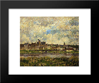 Gray Day In Spring: Modern Black Framed Art Print by Robert Spencer