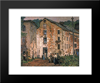Grey Mills: Modern Black Framed Art Print by Robert Spencer