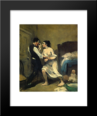 Happy Family: Modern Black Framed Art Print by Robert Spencer