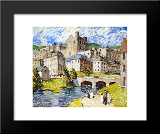 Hilltown: Modern Black Framed Art Print by Robert Spencer