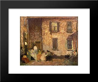 Hour Of Dusk: Modern Black Framed Art Print by Robert Spencer