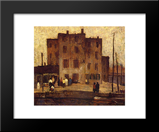 Jack'S Castle: Modern Black Framed Art Print by Robert Spencer