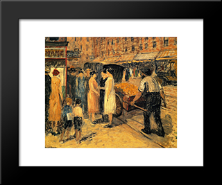 Lower East Side: Modern Black Framed Art Print by Robert Spencer