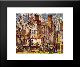 Mills: Modern Black Framed Art Print by Robert Spencer