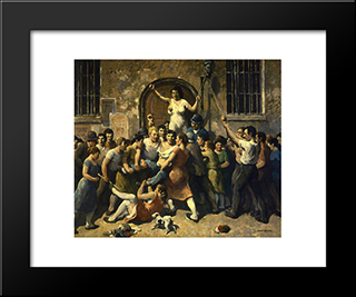 Mob Vengeance: Modern Black Framed Art Print by Robert Spencer