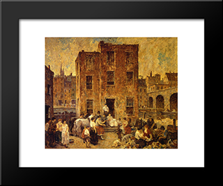 Montebanks And Thieves: Modern Black Framed Art Print by Robert Spencer