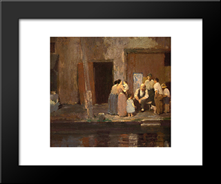 Near The Blacksmith'S Shop: Modern Black Framed Art Print by Robert Spencer