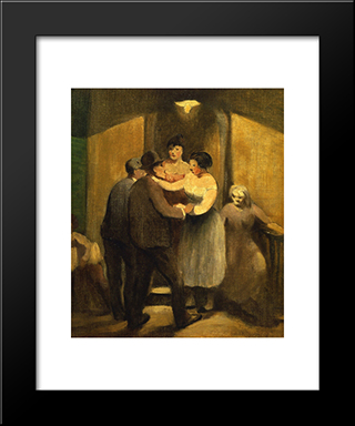 Night Life: Modern Black Framed Art Print by Robert Spencer