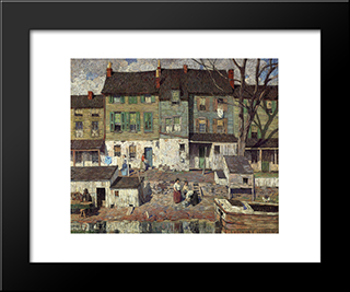 On The Canal, New Hope: Modern Black Framed Art Print by Robert Spencer