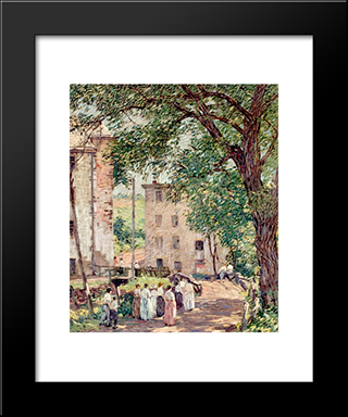One O'Clock Break: Modern Black Framed Art Print by Robert Spencer