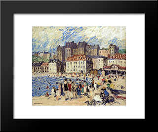 Riviera Beach: Modern Black Framed Art Print by Robert Spencer