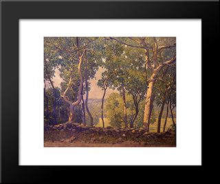 Roadwide: Modern Black Framed Art Print by Robert Spencer