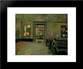 A Room (In The Second Post-Impressionist): Modern Black Framed Art Print by Roger Fry
