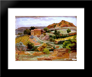 Beaumes: Modern Black Framed Art Print by Roger Fry
