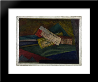 Essay In Abstract Design: Modern Black Framed Art Print by Roger Fry