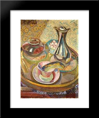 Still Life With Coffee Pot: Modern Black Framed Art Print by Roger Fry