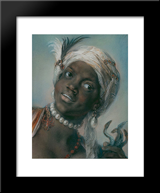 Africa: Modern Black Framed Art Print by Rosalba Carriera