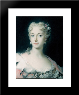 Maria Theresa, Archduchess Of Habsburg: Modern Black Framed Art Print by Rosalba Carriera