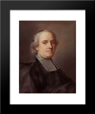 Portrait Of The French Consul Jean Le Blond: Modern Black Framed Art Print by Rosalba Carriera