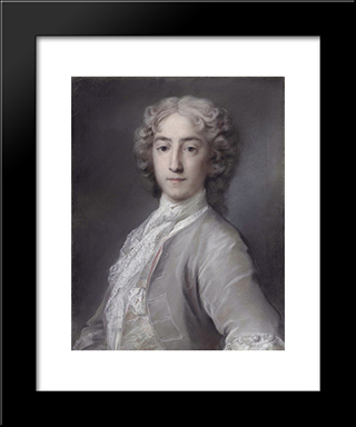 Sidney Beauclerk: Modern Black Framed Art Print by Rosalba Carriera