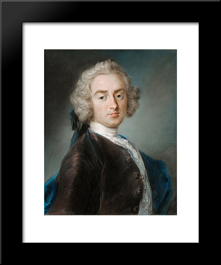Sir James Gray, Second Baronet: Modern Black Framed Art Print by Rosalba Carriera