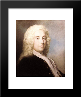 Young Cavalier: Modern Black Framed Art Print by Rosalba Carriera