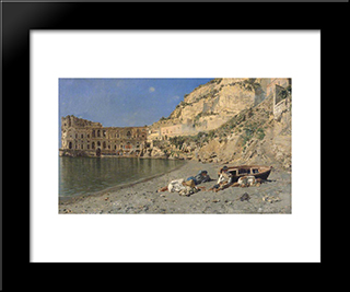 A Siesta In Sunshine: Modern Black Framed Art Print by Rubens Santoro