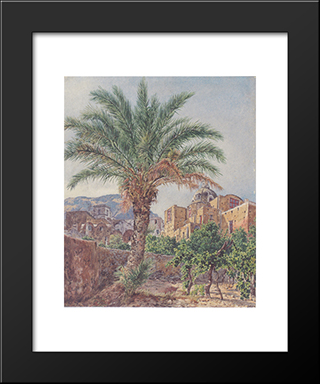 The Cathedral Of Capri: Modern Black Framed Art Print by Rudolf von Alt