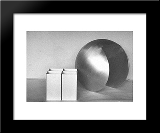 In Relation Three To Four: Modern Black Framed Art Print by Ruth Vollmer