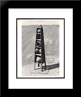 Obelisk: Modern Black Framed Art Print by Ruth Vollmer