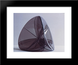 Steiner Surface: Modern Black Framed Art Print by Ruth Vollmer