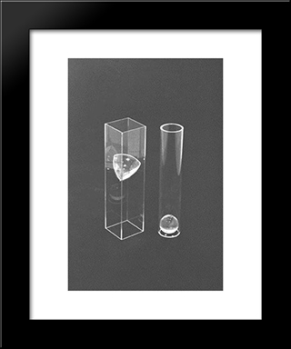 Tangents: Modern Black Framed Art Print by Ruth Vollmer