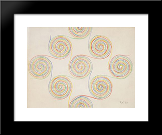 Untitled (Swirls): Modern Black Framed Art Print by Ruth Vollmer