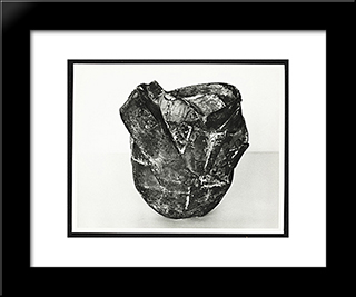 Untitled Ellipsoid: Modern Black Framed Art Print by Ruth Vollmer