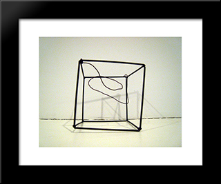 Wire Cage Soap Film Form: Modern Black Framed Art Print by Ruth Vollmer