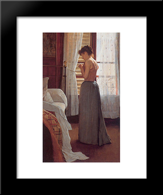 Figure Study: Modern Black Framed Art Print by Santiago Rusinol