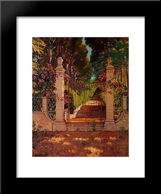 La Verja: Modern Black Framed Art Print by Santiago Rusinol