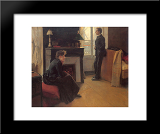 Summer Shower: Modern Black Framed Art Print by Santiago Rusinol