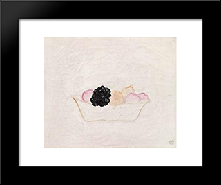 Fruits: Modern Black Framed Art Print by Sanyu
