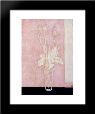 Tulip: Modern Black Framed Art Print by Sanyu